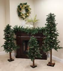 Set of 3 Pre-Lit Woodland Alpine Artificial Christmas Trees 4', 5' and 6' -  Clear - Walmart.com