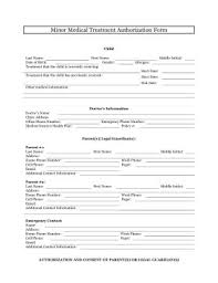the minor medical treatment authorization form allows the parents and legal guardians of minor children to permission letter for medical treatment