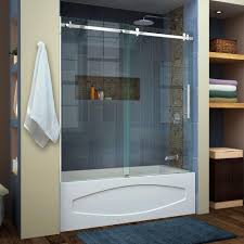dreamline enigma air 56 in to 60 in x 62 in frameless sliding tub regarding size