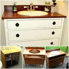 old dresser bathroom vanity as turned dressing ideas vintage converted into s on in styl