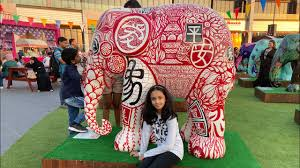 Elephant Design Studio Dubai My First Vlog Dubai Festival City Mall Elephant Parade