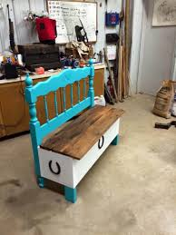 repurposed pallet and old headboard bench furniture59 old