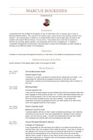 Gallery Of Server Bartender Resume Samples Visualcv Resume Samples
