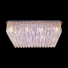 wonderful grace and sparkle rectangular crystal flush mount ceiling lights
