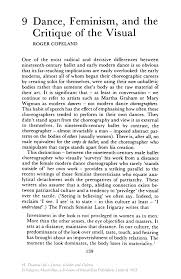 feminist criticism essay a feminist perspective on emily dickinson  dance feminism and the critique of the visual springer inside