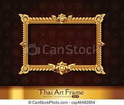 Thai art frame border