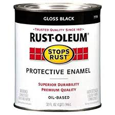 Rust Oleum 7779504 Protective Enamel Paint Stops Rust 32 Ounce Gloss Black
