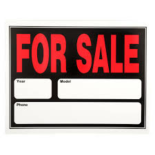 auto for sale sign everbilt 15 in x 19 in plastic auto for sale sign 31214 the home