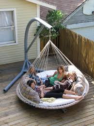 hanging outdoor bed popular amazing portable stand for floating an old naps up no problem with 29