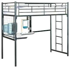 Black metal bunk bed Double Story Metal Loft Bed With Desk Black Metal Loft Bed Twin Metal Loft Bed With Desk Metal Ricoproperties Metal Loft Bed With Desk Ricoproperties