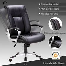 contemporary leather high office chair black. Black PU Leather High Back Office Chair Executive Task Computer Ergonomic Contemporary T
