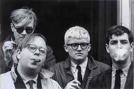dennis hopper andy warhol henry geldzahler david hockney and jeff goodman 1963 photograph