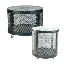 metal drum coffee table metal drum side table metal drum coffee table and side table belle metal drum coffee table