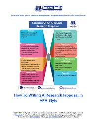 Pdf How To Writing A Research Proposal In Apa Style