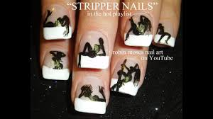 Nail Designs With Stripers Hot Nails Exotic Dancer Nail Art Design Stripper Nails Tutorial