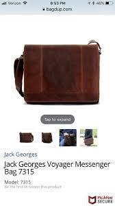jack george s leather messenger bag