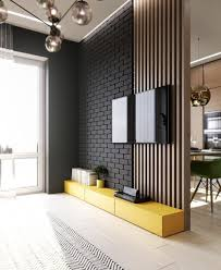 Low Wall Partition Design Modern Home Living Room Tv Living Room Designs Interior
