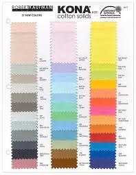 Kona Color Card New 2017 Kona 37 Colors Kona Swatches