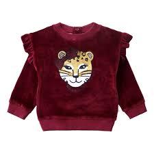 Girly Panther - Ruffle Sweater - Plum ...