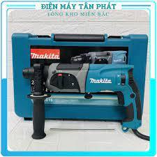 Máy khoan sắt bắt vít đục tường bê tông Makita HR2470 chính hãng đa chức  năng mini giá rẻ dùng điện cầm tay - Máy khoan, máy vặn vít & phụ kiện
