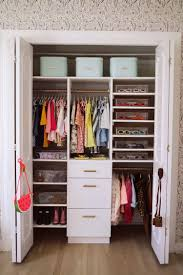 how to organize a baby closet with the home edit