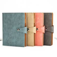 a5 2018 2019 luxury aesthetic agenda loose leaf ring binder faux leather inserts notebook planner with lock office supplies