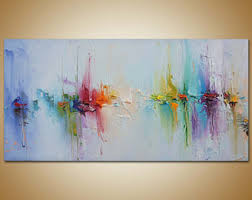 Canvas abstract artwork Canvas Prints Contemporary Art Abstract Painting Original Art Canvas Painting Seascape Painting Canvas Wall Decor Abstract Canvas Art Rainbow Colors Etsy Abstract Canvas Art Etsy