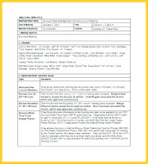 Meeting Notes Template Minutes Minute Conference Call Sample Example