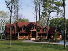 luxurious log home