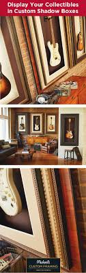 Display your guitar collection with custom shadow boxes that double as  artwork. Hang your guitar