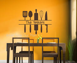 ps a personalized wall art decals vinyl stickers custom name with utensils brown gallery of art