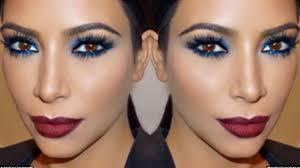 kim kardashian blue smokey eye red lip tips for your makeup adrilunamakeup