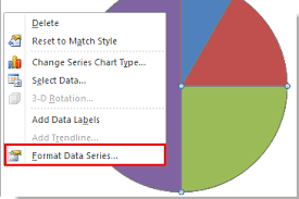 Rotate Pie Chart Excel