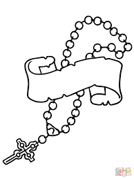 Small Picture Rosary Beads Coloring Page Free Printable Coloring Pages