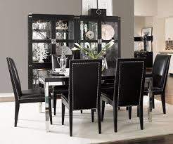 modern black dining room sets. dining room: miraculous hill creek black 5 pc rectangle room sets of from romantic modern s