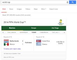 Google All Your Googles Detailed World Cup Results