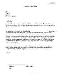 debt settlement agreement template letter form free uni