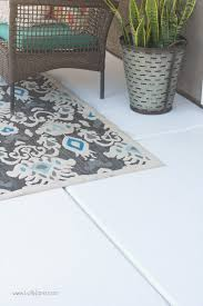 easy porch makeover love the white concrete paint tutorial so fresh and