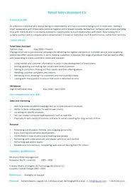 Cv Shop Assistant Retail Template Sales Environment Assistant Shop Work Cv