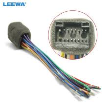 leewa car radio stereo wire harness plug cable for kenwood 16pin kenwood wiring harness for harley leewa car radio stereo wire harness plug cable for kenwood 16pin female connector adapter ca1606