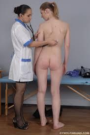 Gyno Lesbians Lesbian Gyno Doc Flirts With Her Nude Examinee.