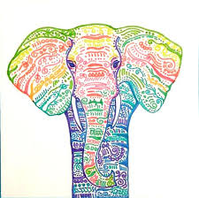 colorful elephant drawings.  Colorful Rainbow Elephant Drawing Colorful Detailed Elephant For Drawings T