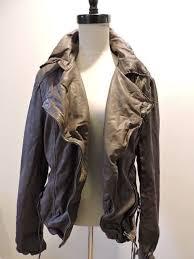 nwt 510 muubaa meggie leather biker skinny jacket us 10 m uk 14 dusky grey