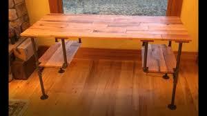 Pipe Desk Design Diy Black Iron Pipe Desk