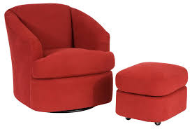 contemporary swivel chair and ottoman