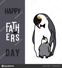 幸せな父の日カード父と子供動物 ストックベクター Ovynokurova