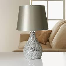279036 ava mosaic table lamp silver