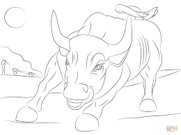 Small Picture Wall Street Bull coloring page Free Printable Coloring Pages