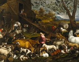 italian painters painting the animals entering noahs ark by jacopo bassano