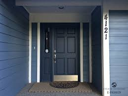best navy blue paint colorFront door painted Benjamin Moore Hale Navy blue siding and white